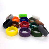 Silicone Ring Bands Flexible Silicone Rubber Wedding Rings O...