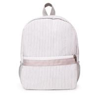 사이드 메쉬 작은 부지 회색 유치원 가방 시어서커 유아 학교 가방 어린이 학교 도서 가방 DOM106187을 포켓