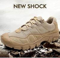 Homens ao ar livre Sapatos de Caminhada À Prova D 'Água Respirável Tático Botas de Combate Do Exército Tênis de Treinamento do Deserto Anti-Escorregar Sapatos de Trekking