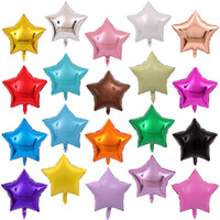 도매 18 인치 스타 모양 풍선 50pcs / lot 알루미늄 호일 생일 풍선 웨딩 파티 장식