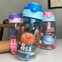 700 ML Childrens Sippy Coppa di plastica Coppa del fumetto sveglio di Ocean creativo Kindergarten bambino alunni bollitore personalizzato Nuovo FY4126