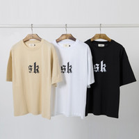 Kanye Magliette per Estate 3 Colori Fear of God Retro Front Lettera stampata a maniche corte Tee High Street Homme Tees