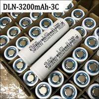 원래 DLG INR 18650 배터리 100 % 고품질 전자 담배 배터리 실제 용량 3200mAh 충전식 배터리 빠른 배송