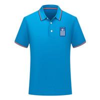 فريق كرة القدم الوطني اليوناني قميص كرة القدم كرة القدم قصير الكم قميص البولو الصيفي