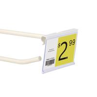 08/06 / 10x4 / 4.5cm In White Süpermarket Raf Kanca Rack için Pvc Plastik Fiyat Etiketi İşaret Etiket Görüntü Sahipleri Klipler / net 100pcs