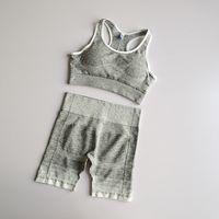 New Seamless Yoga Set 2PCS Workout Clothes Women Sports Bra Tops+Fitness Shorts Sports Wear Gym Clothing Athletic Yoga Sport Set