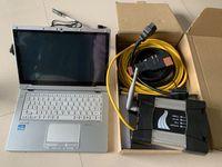 Pour BMW Diagnostie Tool Icom Next WiFi avec SSD Expert Mode CF-AX2 Ordinateur portable I5 4G Écran tactile 360 degrés Prêt à utiliser