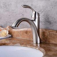 عالية الجودة الأزياء الساخنة والباردة حوض الحمام حوض صنبور من النحاس الأصفر نحى صنبور تركيب سطح ثقب واحد