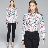 High- end Girl Shirt Printed Long Sleeve Lady Tops OL Spring ...