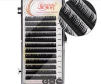 حجم رمش الطبيعية تمديد الرموش الصناعية الرموش الفردية أداة ماكياج كوريا الألياف 4 صواني b c d curl 8-15mm x201