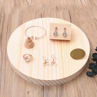 [DDisplay] Ciondolo tondo per gioielli creativo in argento massiccio. Espositore per bracciale in legno. Espositore per bracciale in legno
