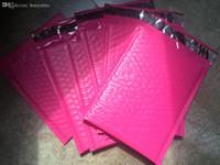 Wholesale- [PB # 47 +] - Roze 7.3x9inch / 185x230 + 40mm bruikbaar Space Poly Bubble Mailer Enveloppen Patded Mailing Bag Self Sealing [100PCS]