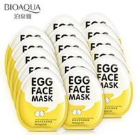 Dropshipping Nouveaux masques pour le visage aux œufs BIOAQUA Contrôle des huiles Éclaircir le masque enveloppé Tendre Masque hydratant pour le visage Soins de la peau masque hydratant