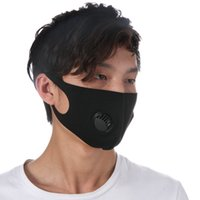 Adult Face Mask Dustproof Washable Valve Mask Reusable Anti-Dust Ice Silk Cotton Masks ZZA2410