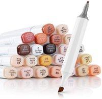 24 цветных фломастеров кожи Браун серии цвета для портретной эскизе Paint Art Design School Animation Манго питания