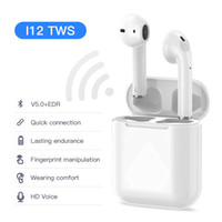 i12 TWS Bluetooth Earphones True Wireless Headphones Sports ...