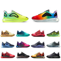NIKE AIR MAX 720 Shoes  Metallic Platinum running shoes for men women Northern Lights triple black red SUNRISE CARBON GREY DESERT GOLD mens trainers sports sneakers
