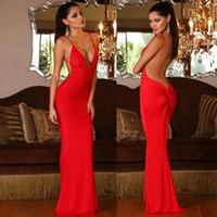 Sexy Backless Red Prom Evening Dress Cheap Spaghetti Formal Patry Gown Mermaid Pageant Celebrity Dresses Custom Made