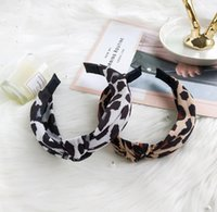 Europa y América diadema de tela de leopardo, con el borde anudada venda ancha, damas de lavado de cara accesorios para el cabello arco WY942