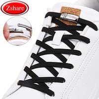 جديد 1 ثانية سريعة أربطة الحذاء المغناطيسي مرونة عالية الجودة الأربطة الأحذية المسطحة لا التعادل الترفيه في الهواء الطلق أحذية رياضية كسول