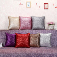 Pillowcase bedroom Living room High Quality Solid Color Glit...