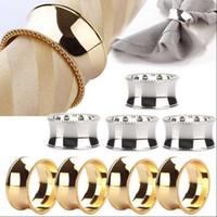 Rings de mariée Anneaux de serviettes de mariée Titulaires de serviettes de métal pour les dîners Fêtes Hotel Mariage Table de mariage Fournitures de diamètre 4.5cm