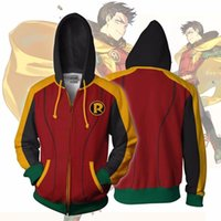 wholesale 2018 Men Hooded Barry Damian Robin 3D Printed Hood...