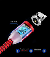 Neueste Magnetic Micro-USB-Kabel Schnellladegerät 2.4A Nylon Magnet Schnellladekabel 1M Mikro-USB-Kabel für Samsung Anroid Telefon
