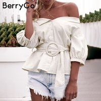Berryggo Off Shoulder Blouse Women' s Shirt Touch Summer...