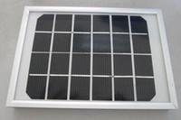 شراء واحدة الحصول على 4 هدايا مجانية عالية الجودة 3W وحة للطاقة الشمسية 6V / 500MA أحادي البلورية الزجاج التصفيح مع الإطار