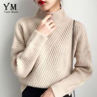 YuooMuoo Хорошего качество Толстого свитер Женщина 2019 зима корейского Vogue Пуловер Сыпучие вязаный свитер Женского Перемычка V191130