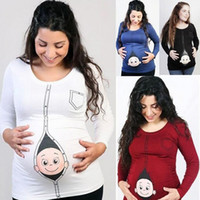 Maternity Long Sleeve Tops Maternity Pregnant Clothes Large ...