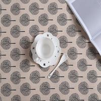 Хлопок и белье кухонного полотенца листьев печать салфетка вода Усвоение Ужина Ткань Много стилей 4 5SD C 100