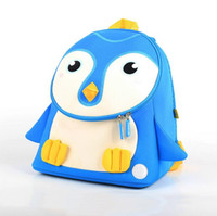POESECHR Cute Kid Toddler School Bags Sac à dos Maternelle Cartable 3D Bande Dessinée Pingouin Sac Animal