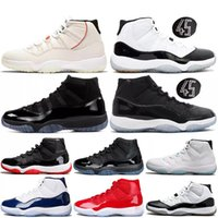 11 alta heredera baja Zapatos de terciopelo gris negro blanco Space Jam Barons Gamma 11s Azul mujeres de los hombres zapatos de baloncesto J11 s de las zapatillas de deporte
