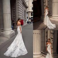 Julie Vino Mermaid Wedding Dresses Portrait Applique Sash Wedding Dress Tulle Sweep Train Vestidos De Novia