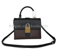 Cerradura bolsa bolso de la mujer monedero de la manera hombro de la señora totalizador de envío libre