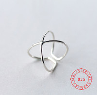 S925 pure silver chic style Simple Geometric Cross 925 Sterl...