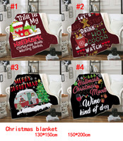 غطاء 3D الطباعة عيد الميلاد للأطفال بطانيات سميكة شيربا الصوف الناعمة الدافئة الأطفال عباءة الرأس شال أريكة رمي بطانية 130 * 150CM