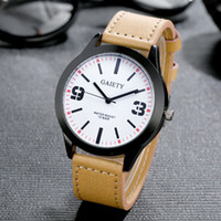 GAIETY Fashion Brand Mens Watch PU Leather Stainless Steel B...