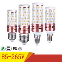 E27 E14 Lampadine a LED SMD2835 12W 16W LED luce di mais 85-265V Tre colori conversione a colori luci a LED per la decorazione domestica