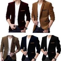 5001f0063c9 Nova Chegada. Mens Plus Size Manga Longa Do Vintage Estilo Britânico Blazer  Jacket Corduroy Fino Único ...