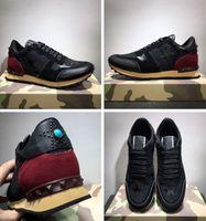 2019 diseñador de moda de lujo zapatillas de deporte de camuflaje zapatos Rock Runner hombres, mujeres caminando pisos alta calidad Rockrunner entrenadores informal