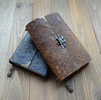 Retro Blume geschnitzte Leder Notebook Notepad Journal Handmade Antique tägliche Schreiben Notebooks Männer Frauen Briefpapier Geschenke