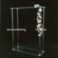 결혼식 테이블 중앙에 senyu0348을 위해 60cm / 120cm 높이) 높이 투명 장식 꽃꽂이 투명 아크릴 꽃 스탠드