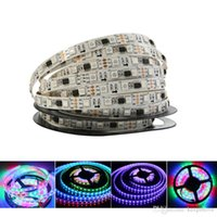 12V WS2811 Cinta de Tiras de Luz LED 5050 RGB SMD 5M 150Leds 240Leds 300Leds Píxeles Dream Magic Color No IP65 IP67 Impermeable Negro / Blanco PCB