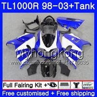 + Tank Light Blue Hot för Suzuki Srad TL 1000 R TL1000R 98 99 00 01 02 03 304HM.28 TL1000 R TL 1000R 1998 1999 2000 2001 2002 2003 Fairings