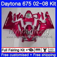 Body For Triumph Daytona 675 rojo perla STOCK 02 03 04 05 06 07 08 Daytona675 322HM.9 Daytona 675 2002 2003 2004 2005 2007 2007 2008 Carenado