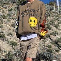 Kanye West Sudaderas Afortunado yo ver fantasmas CPFM camisetas ocasionales esquilado con capucha para mujeres de los hombres de Hip Hop Monopatín Streetwear