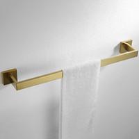 Banyo Kısa Kare Havlu Rafları Duvar 304 Paslanmaz Çelik Havluluk Bar Ayna Parlak Krom bar Monteli
